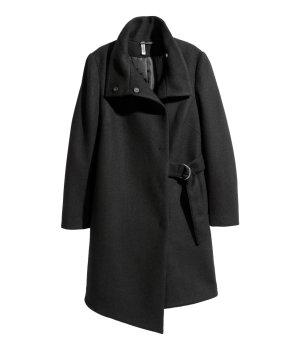 Wrapover Coat Black H&M